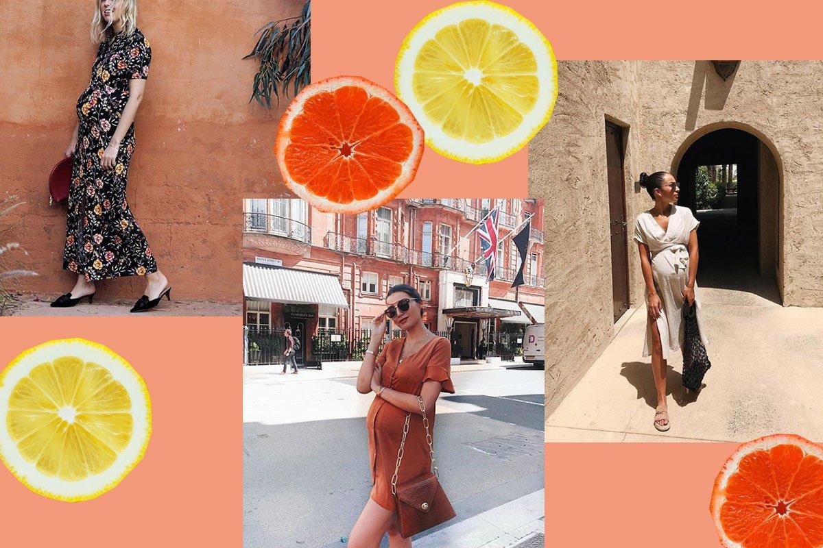 Sommerliche Street Styles für Schwangere