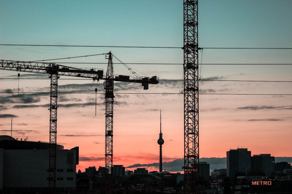 Blick auf Fernsehturm in Berlin
