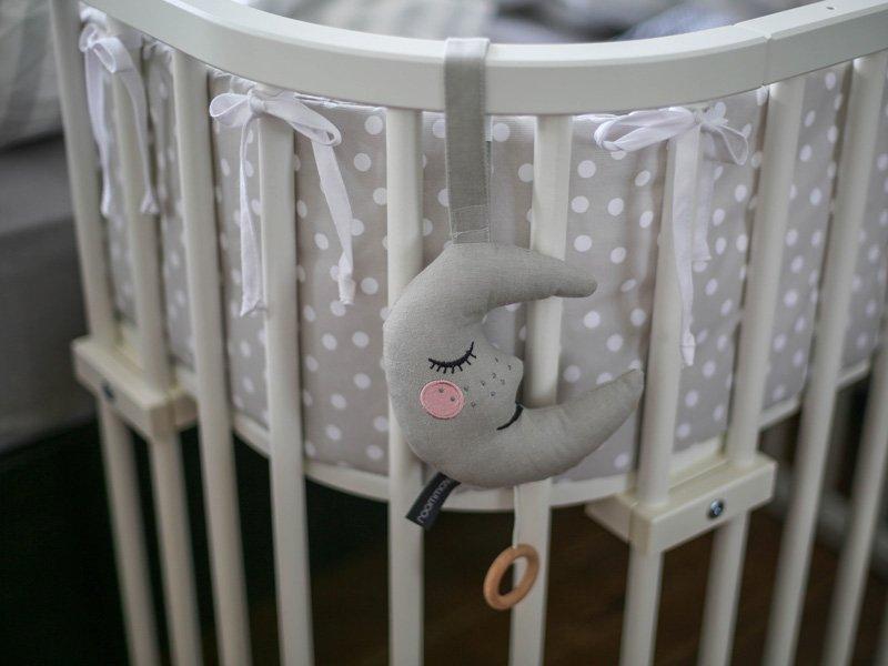 Grau Mond Spieluhr für Babies