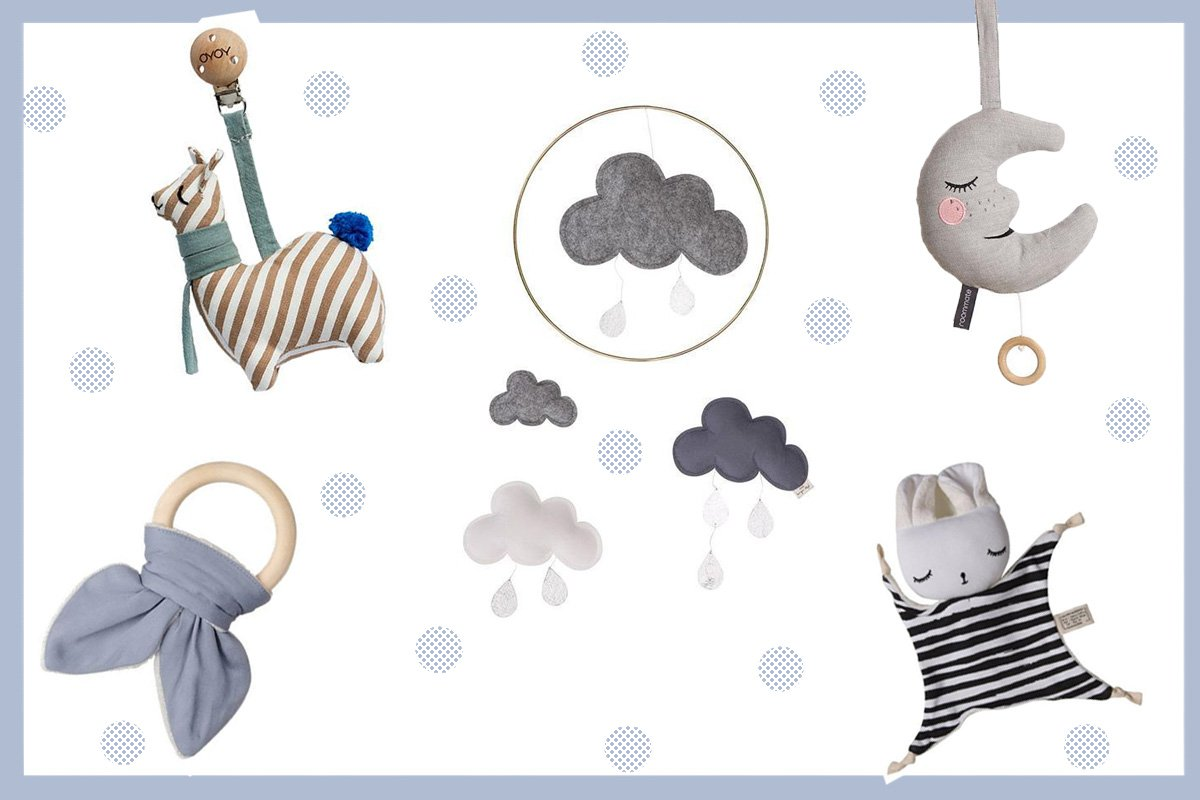 Collage mit nachhaltiger Deko für das Kinderzimmer von kyddo
