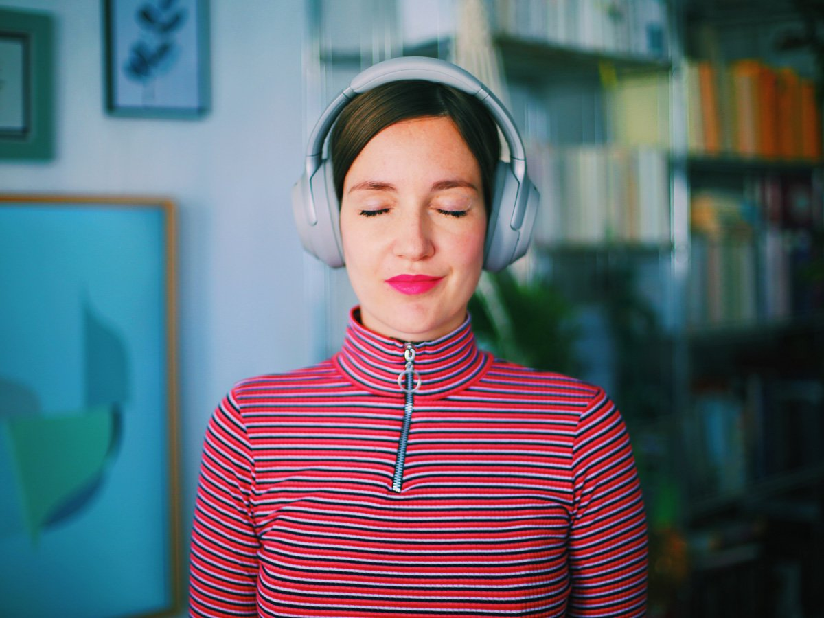 Porträt mit Kopfhörern