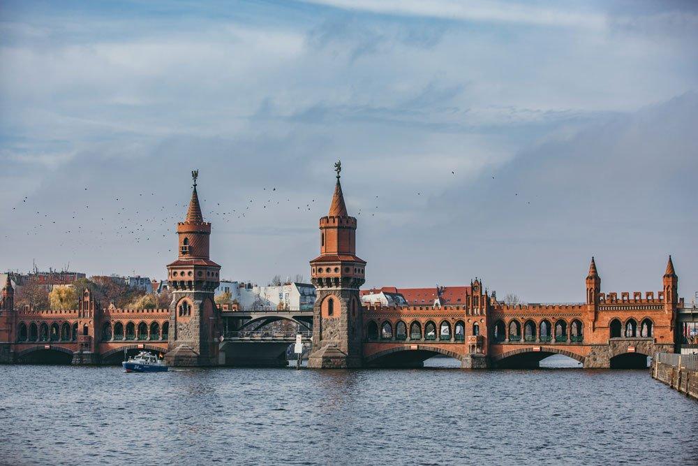Oberbaum Brücke in Berlin Friedrichshain