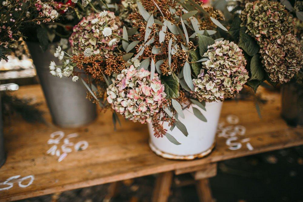 Blumen auf Wochenmarkt Boxhagener Platz
