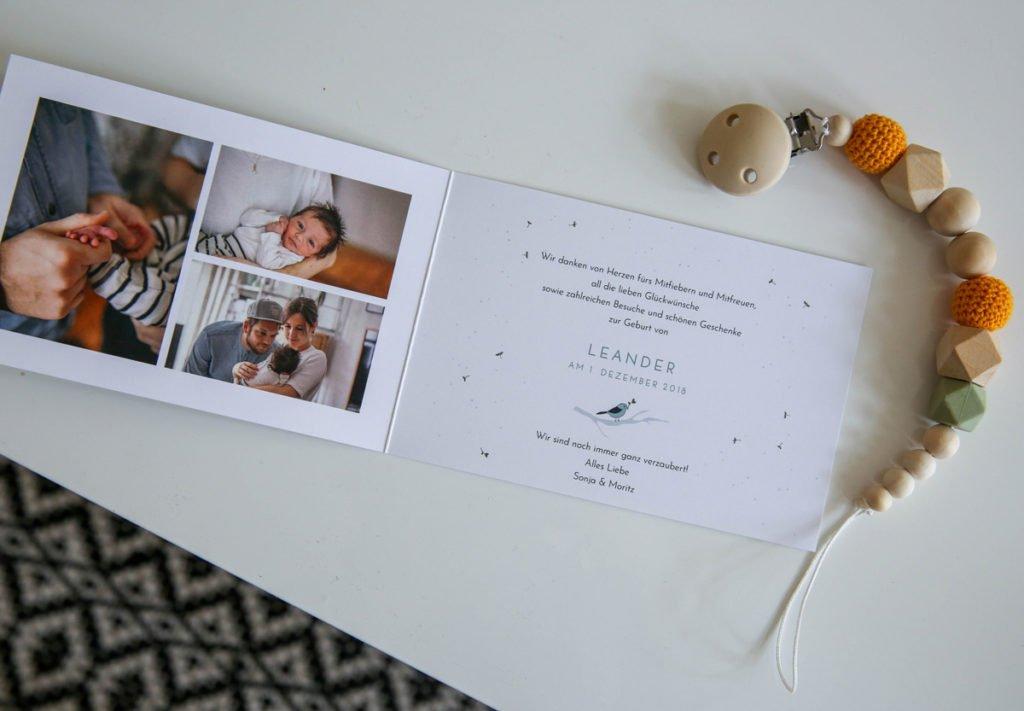 Dankeskarten zur Geburt von Atelier Rosemood