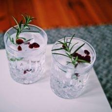 Zwei Gläser mit Gin Tonic