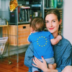 Halbporträt mit Baby