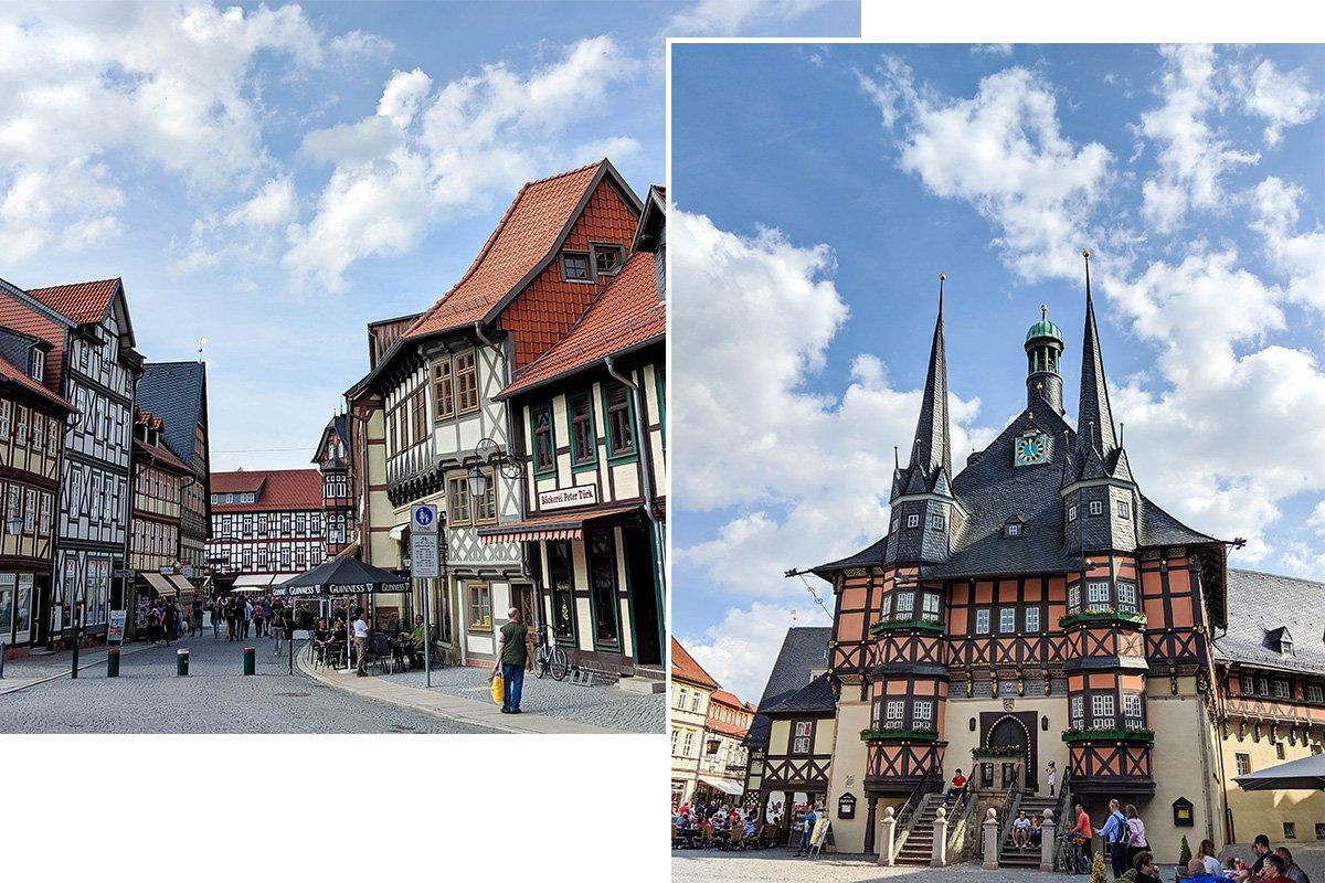 Historisches Rathaus und Altstadt in Wernigerode