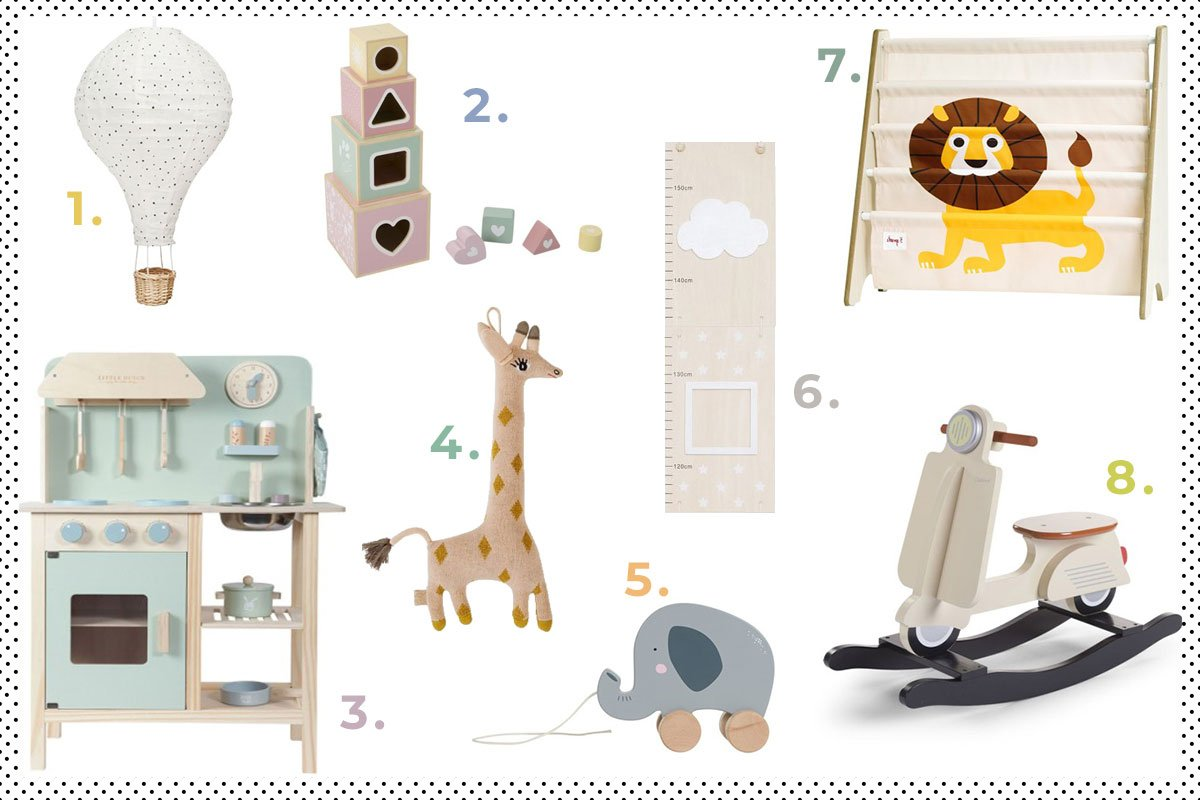 Collage mit Kinderzimmer Accessoires von Little Roomers