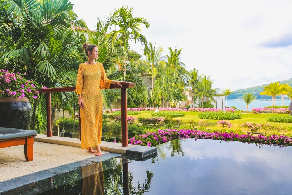 Terrasse der Pool Suite im Andara Resort Phuket