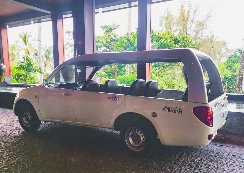 Shuttle im Andara Resort Phuket