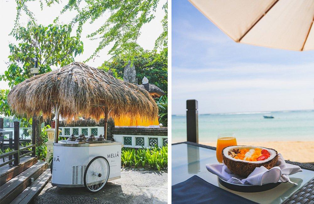 Eiswagen im Meliá Bali