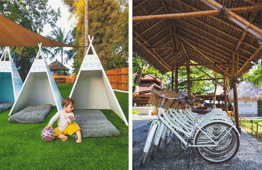 Fahrräder im Melia Bali