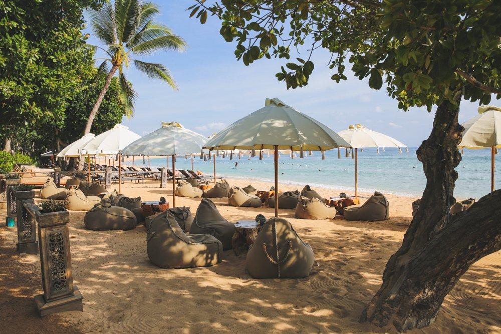Strand im Meliá Bali