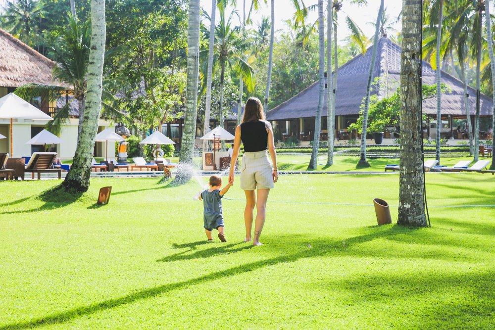 Im Garten des Alila Manggis Bali