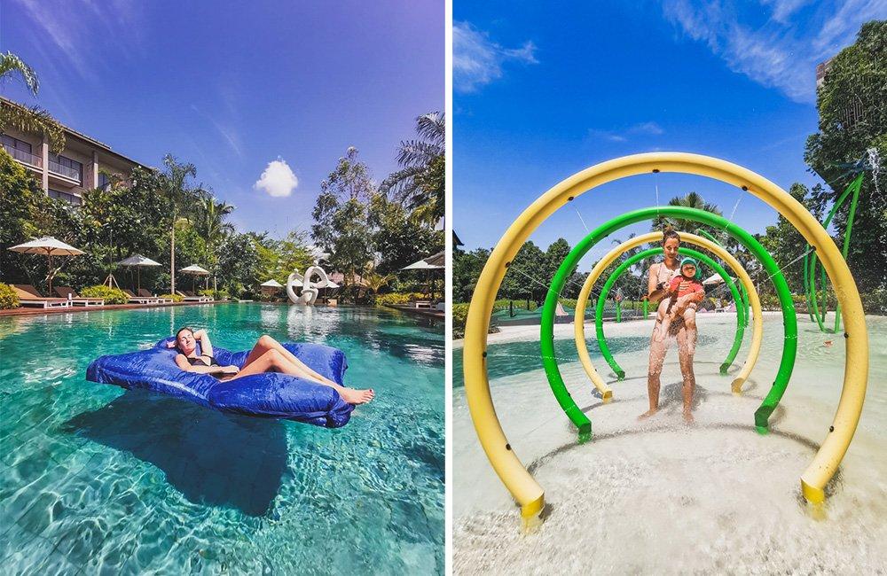 Pool und Babypool im Mövenpick Resort Jimbaran