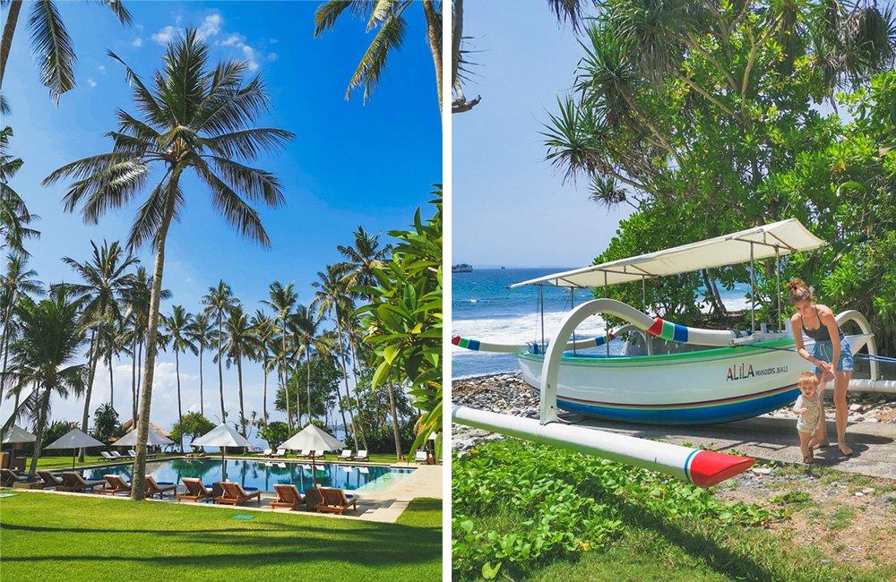 Pool und Gelände im Alila Manggis Bali