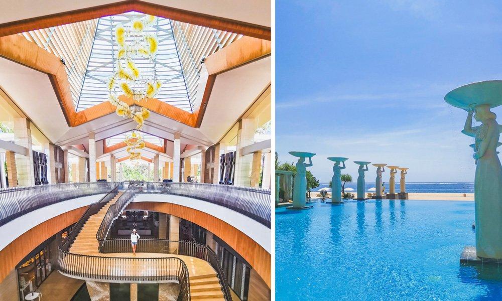 Lobby und Pool im The Mulia Bali
